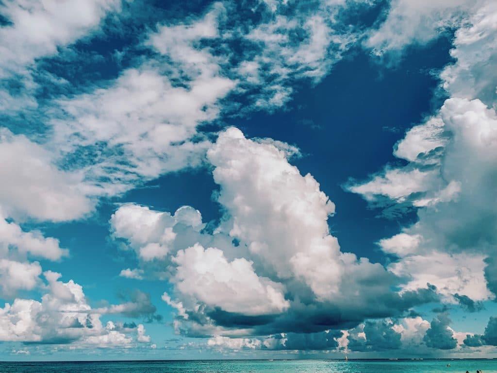 Wolken über dem Meer - einfach schön